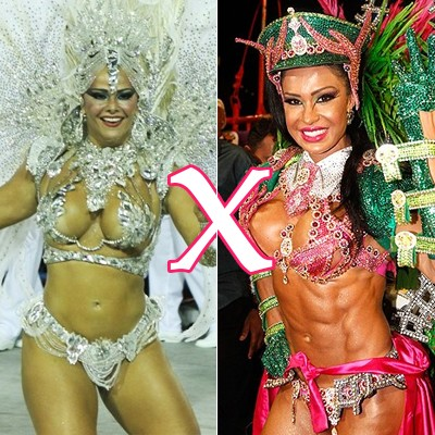 Destaque Gracyanne x Viviane Araújo (Foto: ego)