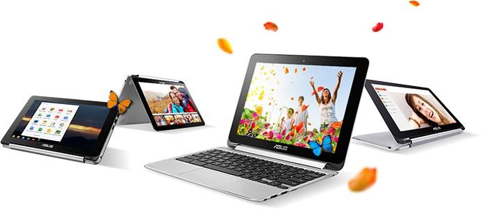 Asus Chromebook Flip C100 tem tela que gira em 360 graus (Foto: Divulgação/Asus)
