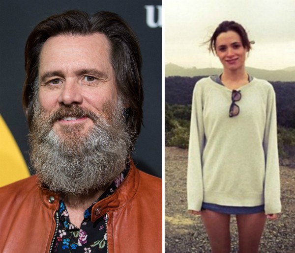 O ator Jim Carrey e sua ex-namorada, a maquiadora Cathriona White (Foto: Getty Images/Instagram)