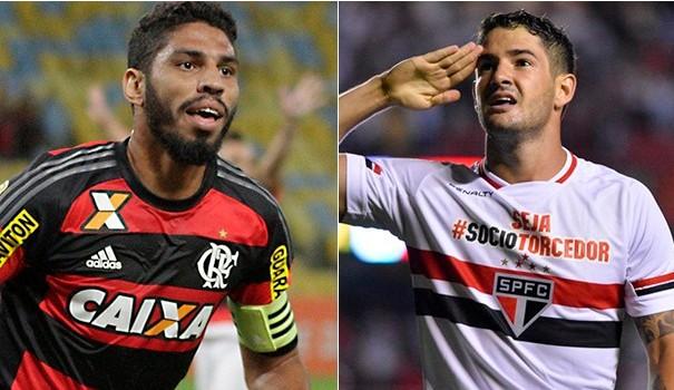 Flamengo e São Paulo se enfrentam pela 20ª rodada do Campeonato Brasileiro (Foto: Reprodução GE)