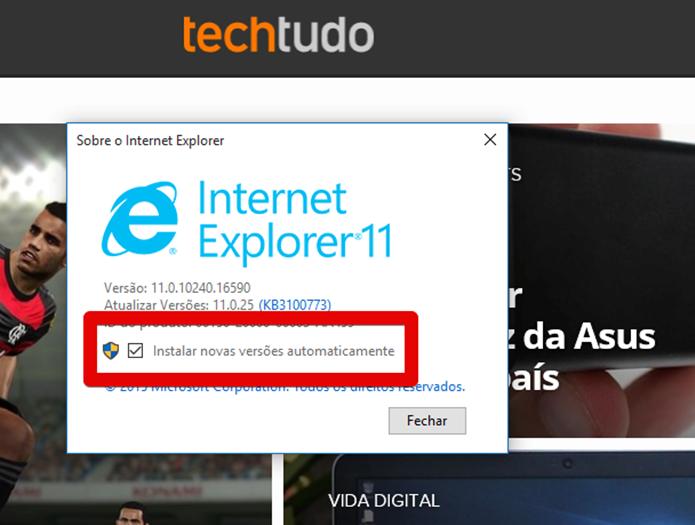 Garantindo que as atualizações automáticas sejam instaladas (Foto: Felipe Alencar/TechTudo)