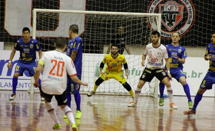 Joinville Futsal x São José Futsal Liga Nacional de Futsal (Foto: Brenno Domingues/Quarttus Marketing)