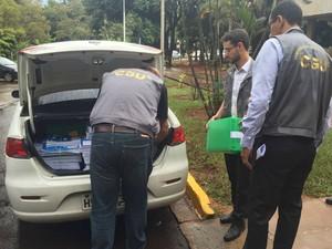 PF, CGU e Receita Federal fizeram buscas em secretaria estadual (Foto: Allysson Maruyama/ TV Morena)