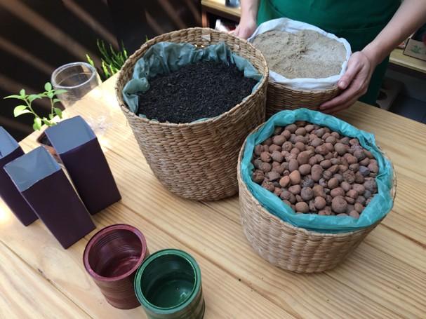 Materiais pra fazer uma horta urbana (Foto: Divulgação)