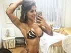 Ex-BBB Vanessa Mesquita mostra bronze mas corpão se destaca