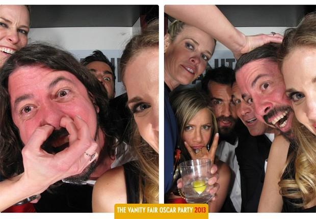 Chelsea Handler, Dave Grohl, Jennifer Aniston e Justin Theroux (Foto: Reprodução)