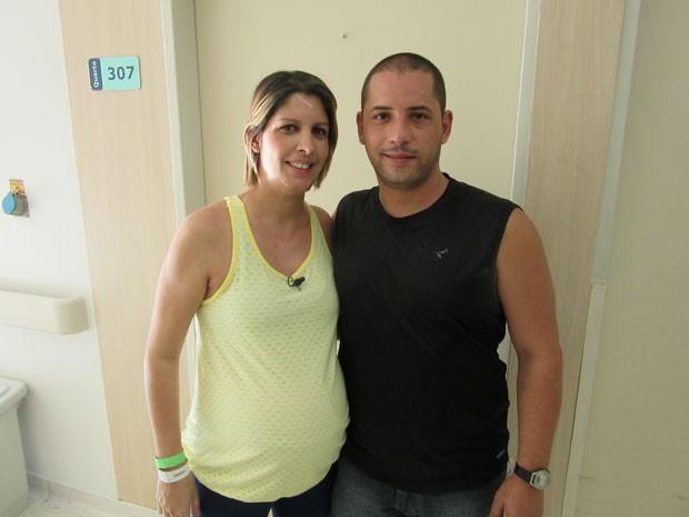Grávida foi internada para facilitar acompanhamento médico (Foto: Letícia Macedo/ G1)