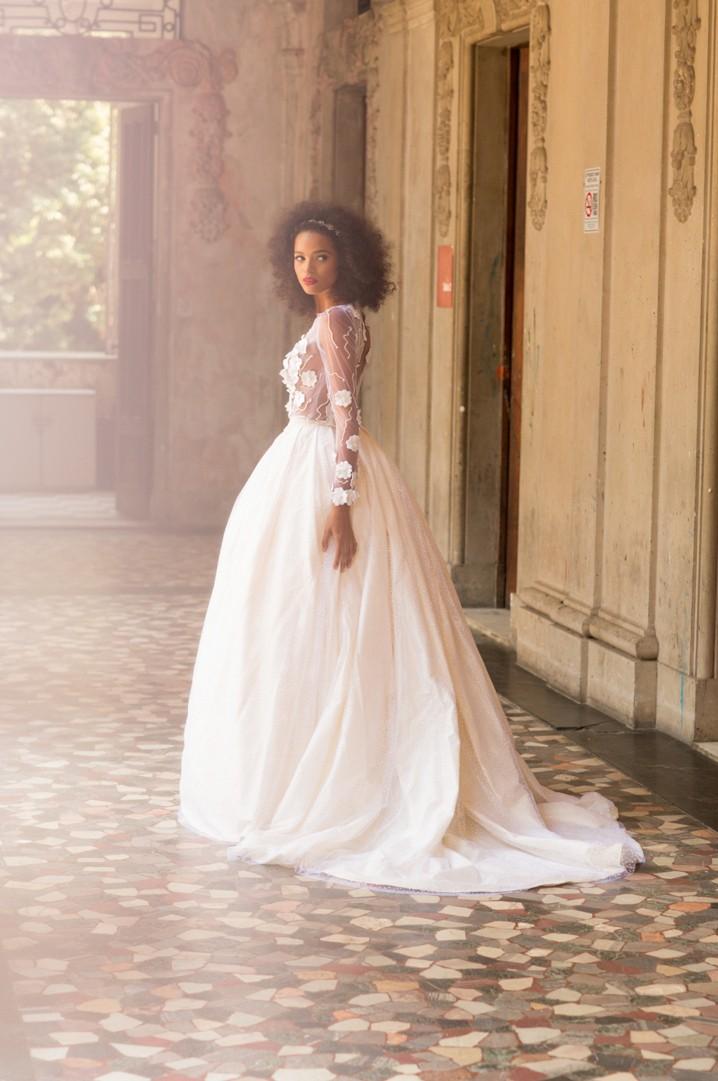 Vestido de noiva de Carol Hungria (Foto: Divulgação)