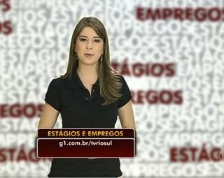 Aline Franco e as vagas de estágios e empregos (Foto: Reprodução: Bom Dia Rio)