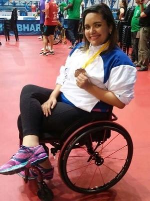 Atleta em cadeira de rodas no DF (Foto: Fabíola da Silva/Arquivo Pessoal)