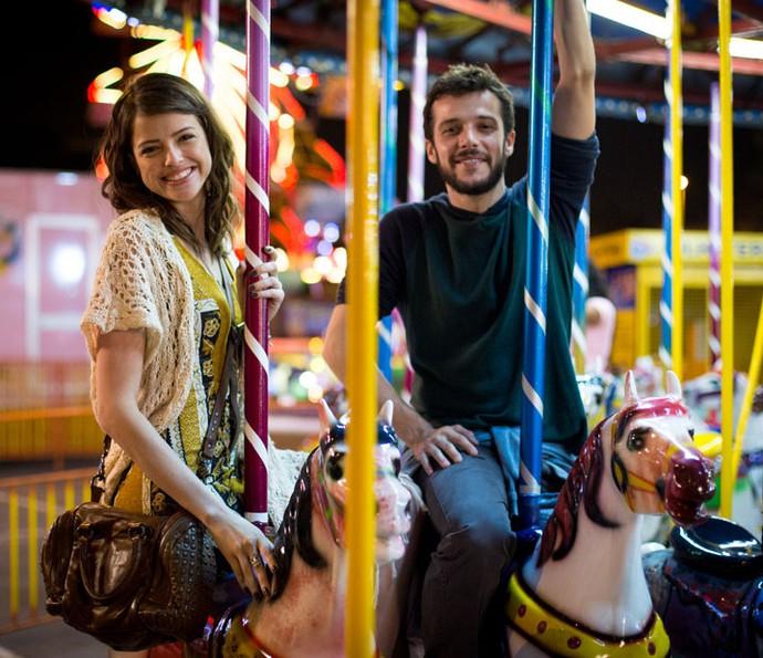 'Muito generoso', diz Agatha Moreira sobre o parceiro de cena, Jayme Matarazzo (Foto: Fabiano Battaglin/Gshow)