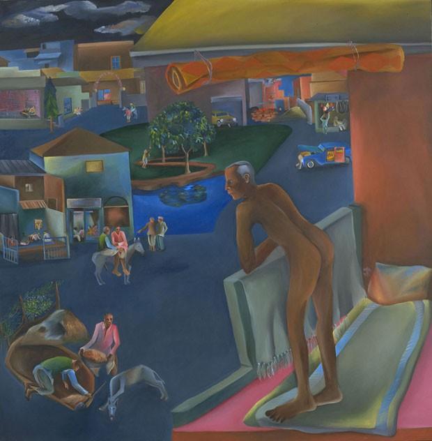 Tate Modern exibe quadros narrativos e autobiográficos do indiano BhuperKhakhar (Foto: Divulgação)