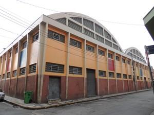 Fachada do Mercado Municipal de Mogi das Cruzes (Foto: Gabriela Stuart/G1 Mogi e Suzano)