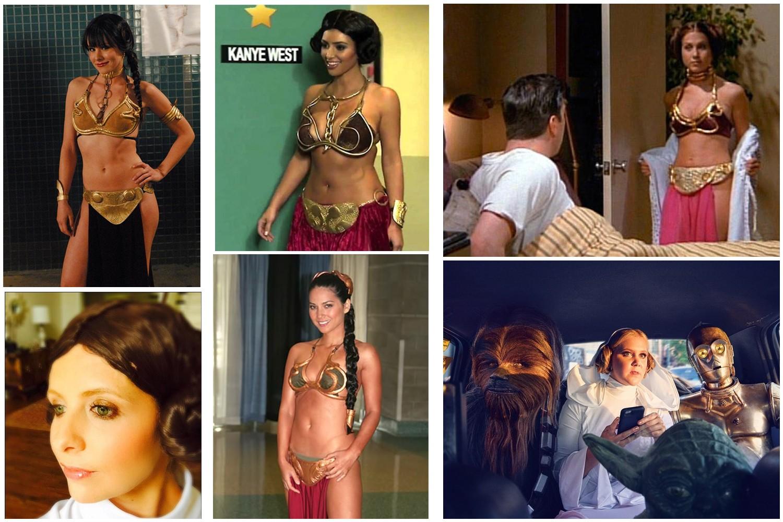 Em sentido horário: Kristen Bell, Kim Kardashian, Jennifer Aniston, Amy Schumer, Olivia Munn e Sarah Michelle Gellar (Foto: Reprodução) (Foto: Reprodução)