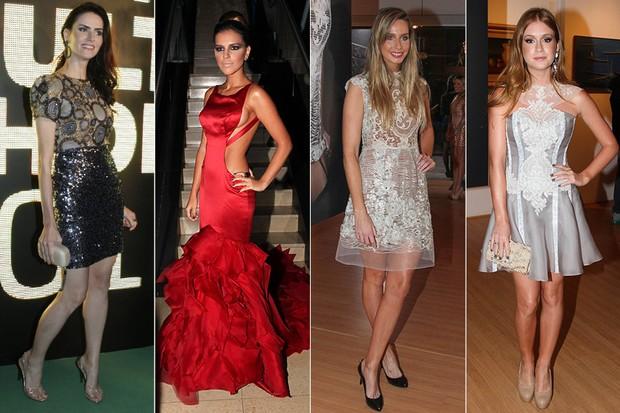 Vestidos de Lethicia Bronstein - Lisandra Souto, Mariana Rios, Mariana Weickert e Marina Ruy Barbosa (Foto: Reprodução)