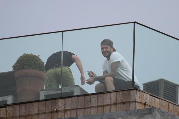 David Beckhan no hotel Fasano, RJ (Foto: Fabio Moreno/Photo RioNews)