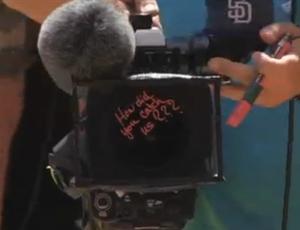 Sharapova câmera (Foto: Reprodução / TennisTV)