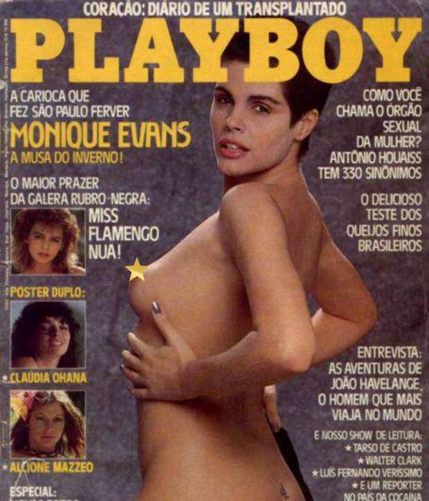 Monique Evans na capa da Playboy em julho de 1985 (Foto: Reprodução)