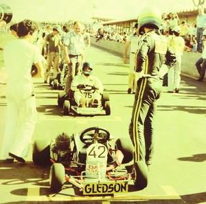 Ayrton Senna durante etapa do Campeonato Brasileiro no Kartódromo de Uberlândia (Foto: Luiz Fernandp Siquieroli/Arquivo Pessoal)