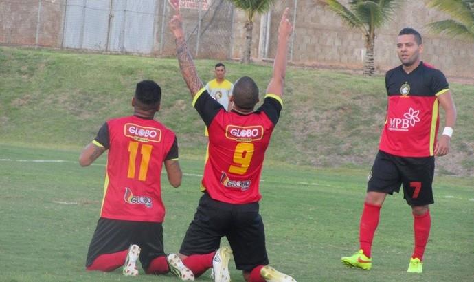 Globo FC comemoração Luizão (Foto: Rhuan Carlos/Divulgação)