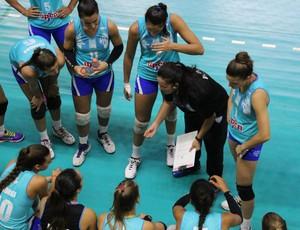 Lorena Góngora, treinadora, Villa Dora, Argentina, vôlei, Sul-Americano de vôlei de Clubes (Foto: Lucas Papel)