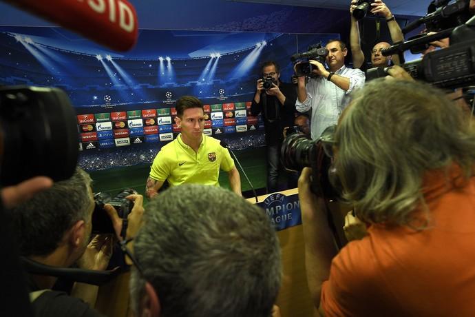 Coletiva Messi Barcelona Bayern (Foto: AFP)