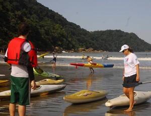 Canoagem oceânica, em Praia Grande (Foto: Divulgação / Prefeitura Municipal de Praia Grande)