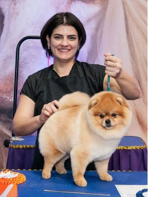 Natália conquistou o segundo lugar no Master Groom com tosa comercial (Foto: Arquivo pessoal)