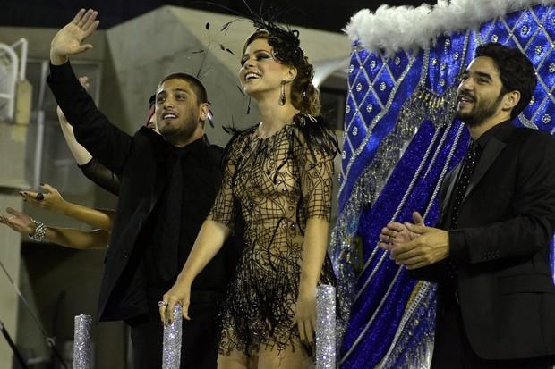 Daniel Rocha, Leandra Leal e Caio Blat (Foto: Roberto Teixeira/EGO)