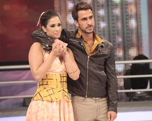 Carol Vieira e Julio Rocha (Foto: Doming&#227;o do Faust&#227;o / TV Globo)