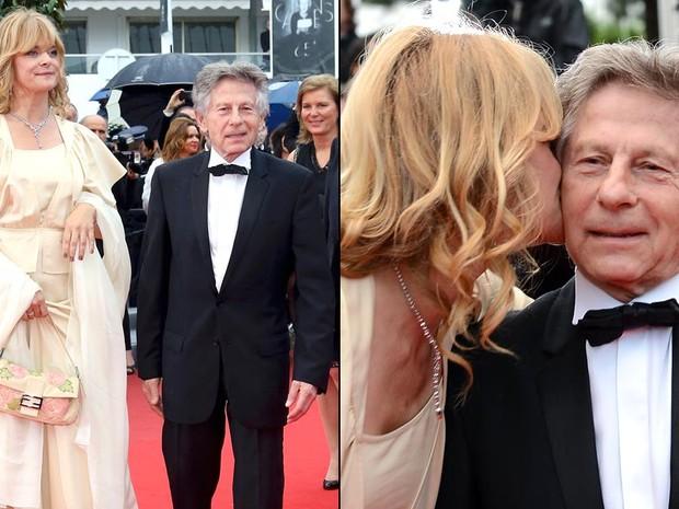 21 de maio — A atriz alemã Nastassia Kinski beija o diretor francês Roman Polanski durante passagem pelo tapete vermelho em Cannes. Polanski reexibiu seu longa 'Tess', estrelado pela atriz em 1979, no festival. (Foto: AFP)