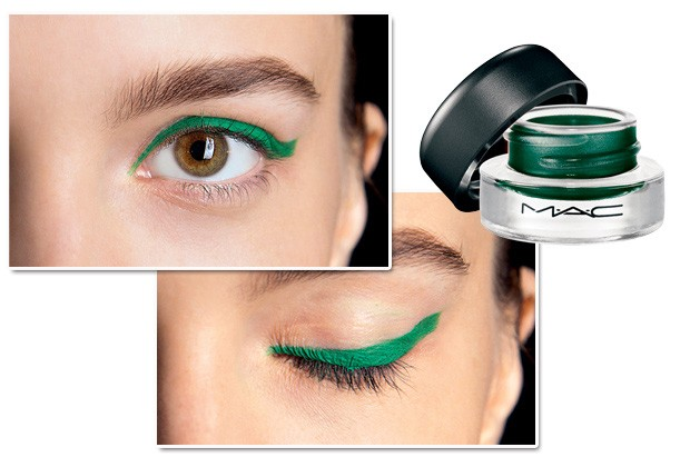 O delineador verde foi destaque no desfile de Monique Lhuillier. Delineador Fluidline, Ivy, M.A.C, R$ 69 (Foto: Imax Tree/Divulgação)