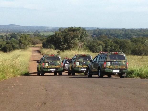 Integrantes da Força Nacional em MS começam barreiras semana que vem (Foto: Fabiano Arruda/ G1 MS)