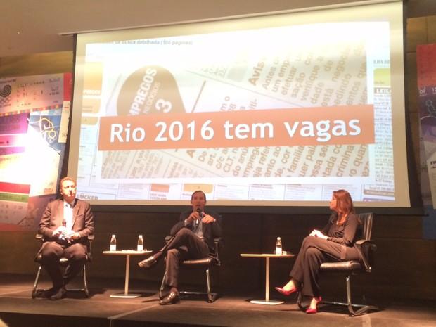Coletiva sobre vagas na Rio 2016 aconteceu no Centro do Rio (Foto: Matheus Rodrigues/G1)