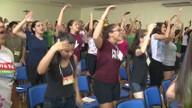 Jovens católicos passam o Carnaval com música e muita oração