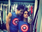 Lívian Aragão e namorado, Nicolas Prattes, vestem roupas iguais