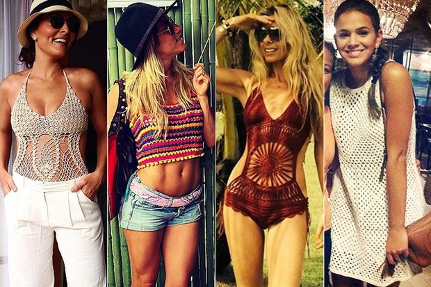 Crochê - Juliana Paes, Giovanna Ewbank, Adriane Galisteu e Bruna Marquezine (Foto: Instagram / Reprodução)