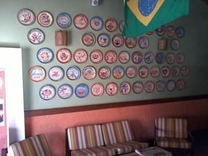 Parede do restaurante Bartrô, em Rio das Ostras (Foto: Divulgação / Bartrô )