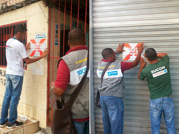 Duas academias foram interditadas pela Sucom, em Salvador, nesta quarta-feira (10). (Foto: Divulgação/ Sucom)