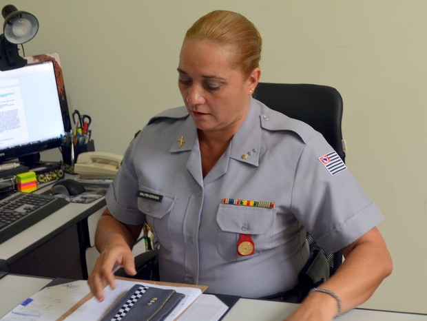 Major Adriana Sgrigneiro - Piracicaba (Foto: Thomaz Fernandes/G1)