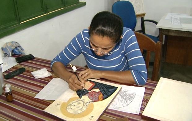 Curso de pintura sacra é ministrado em Roraima (Foto: Bom Dia Amazônia)