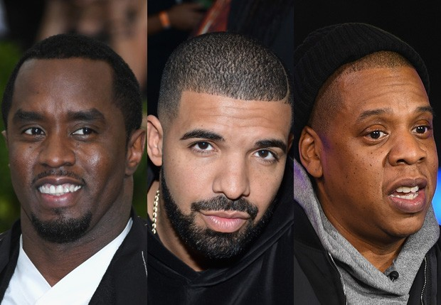 "Sean ""Diddy"" Combs, Drake e Jay Z (Foto: Getty Images)"