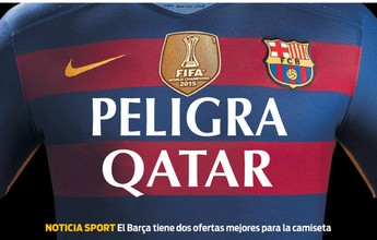 Jornal diz que o Barcelona tem duas propostas para trocar de patrocinador
