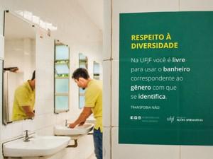 Campanha começou a valer na UFJF nesta quarta (Foto: Caique Cahon/UFJF)