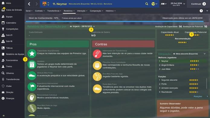 É importante analisar bastante os pontos positivos e negativos dos jogadores (Foto: Reprodução/Thiago Barros)