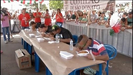 Evento italiano em Pedrinhas Paulista elege o maior comedor de macarrão