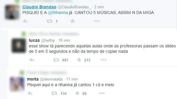 Meme sobre Rihanna no Rock in Rio (Foto: Reprodução / Twitter)