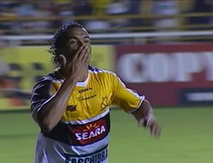 Zé Carlos, Criciúma x Ceará (Foto: Reprodução / SporTV)