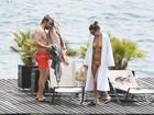 Bradley Cooper e Irina Shayk curtem férias na Itália