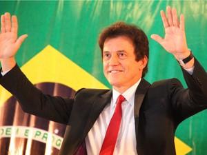 O governador Robinson Faria (PSD) em seu discurso (Foto: Divulgação/Assecom)